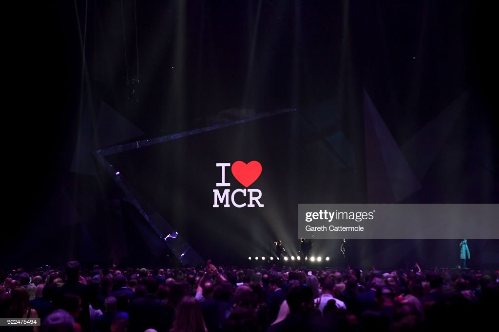 Liam Gallagher performs at The BRIT Awards 2018 held at The O2 Arena on February 21, 2018 in London, England.