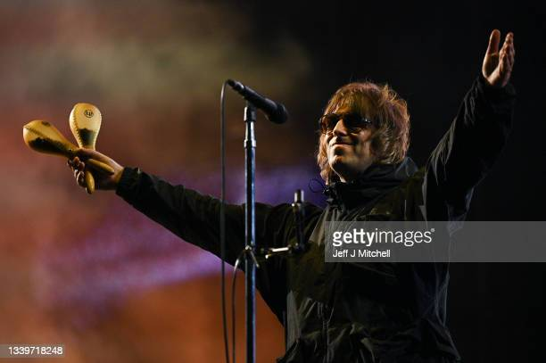 Liam Gallagher performs at the second day of TRNSMT the event returns after a two-year hiatus on September 11, 2021 in Glasgow, Scotland. Around...