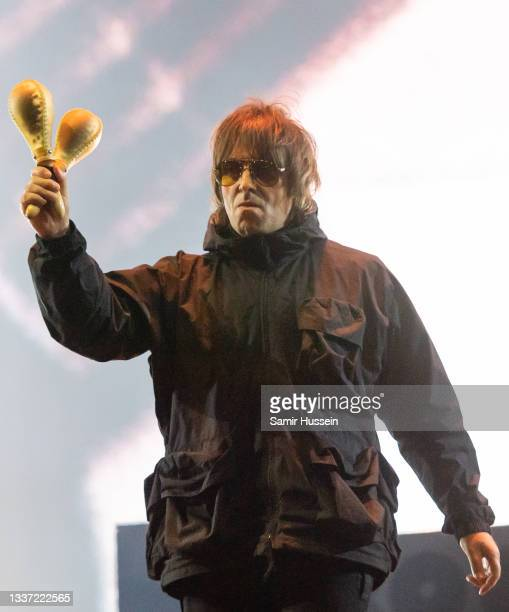Liam Gallagher performs live during Reading Festival 2021 at Richfield Avenue on August 29, 2021 in Reading, England.