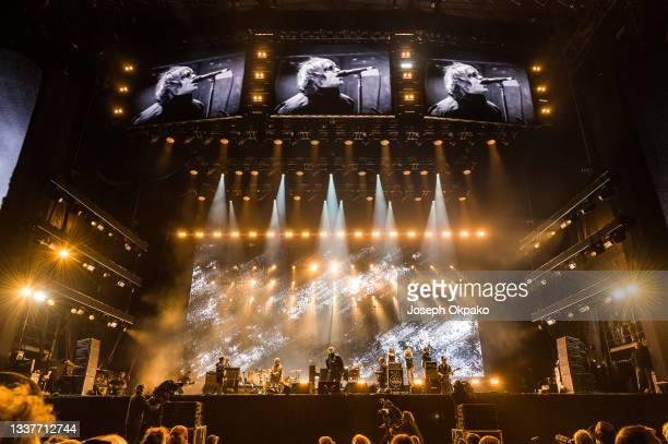 Liam Gallagher performs on Main Stage East during Reading Festival 2021 at Richfield Avenue on August 29, 2021 in Reading, England.