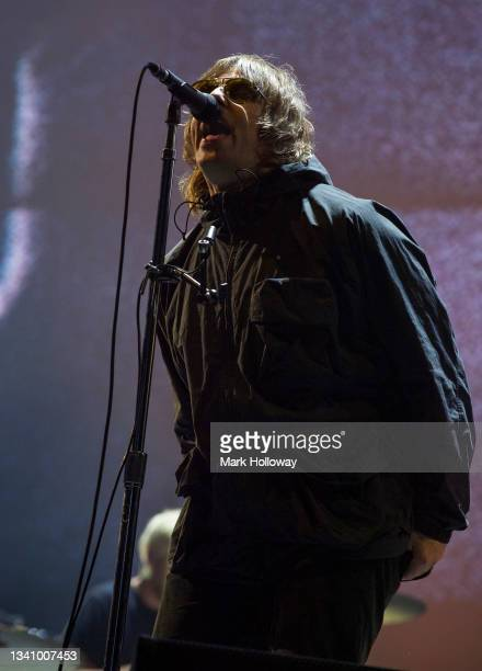 Liam Gallagher performs on stage at during Isle Of Wight Festival 2021 at Seaclose Park on September 17, 2021 in Newport, Isle of Wight.