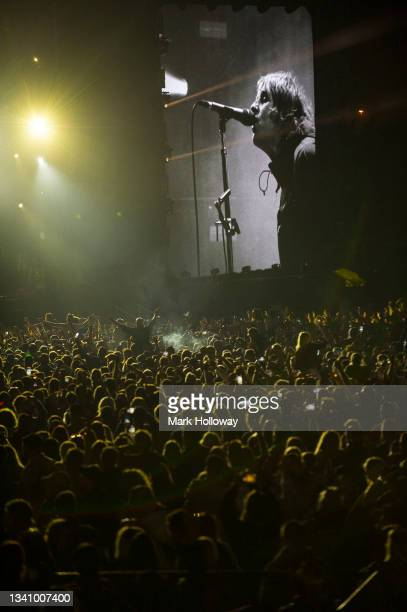 Liam Gallagher performs on stage at Isle Of Wight Festival 2021 at Seaclose Park on September 17, 2021 in Newport, Isle of Wight.
