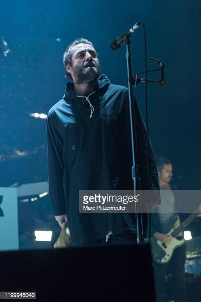 Liam Gallagher performs on stage at the Palladium on February 10, 2020 in Cologne, Germany.