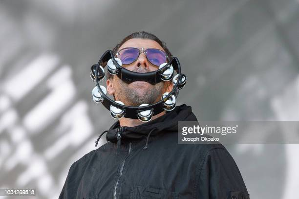 Liam Gallagher performs on stage on Day 2 at the fourth edition of Lollapalooza Berlin at Olympiastadion on September 9 2018 in Berlin Germany