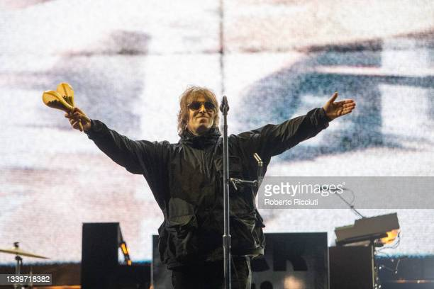 Liam Gallagher performs on the Main Stage on the second day of TRNSMT Festival 2021 on September 11, 2021 in Glasgow, Scotland.