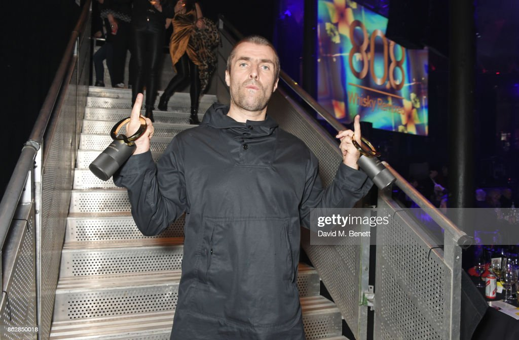 Liam Gallagher, winner of the Q Icon award and the Q Best Live Act award, attends The Q Awards 2017, in association with Absolute Radio, at The Roundhouse on October 18, 2017 in London, England.