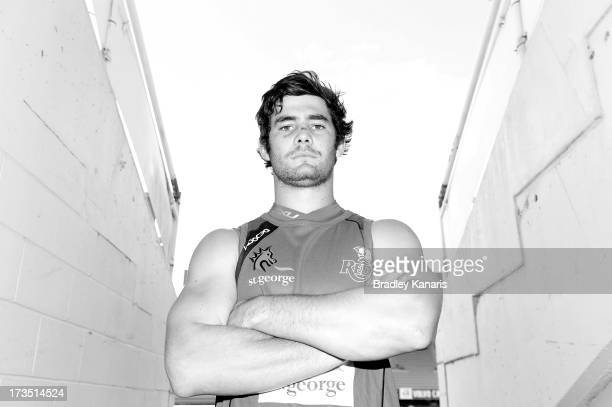 Liam Gill poses for a photo during a Queensland Reds Super Rugby media and training session at Ballymore Stadium on July 16 2013 in Brisbane Australia