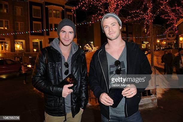 Liam Hemsworth and Chris Hemsworth attend The Samsung Galaxy Tab Lift on January 22, 2011 in Park City, Utah.