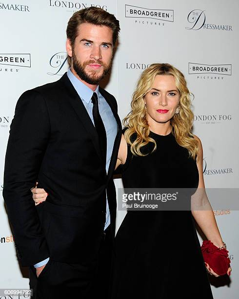 Liam Hemsworth and Kate Winslet attend the London Fog Presents a New York Special Screening of 'The Dressmaker' at Florence Gould Hall on September...