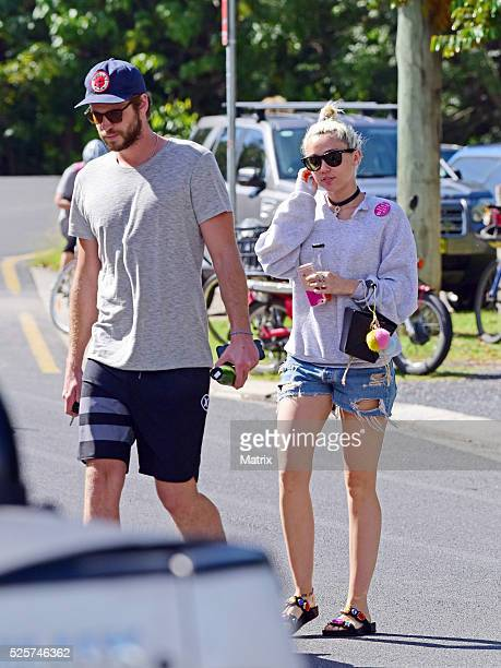 Liam Hemsworth and Miley Cyrus spotted on April 29 2016 in Byron Bay Australia
