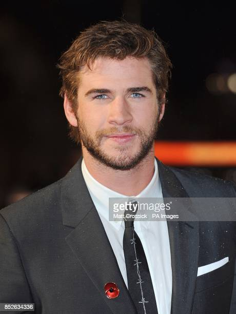 Liam Hemsworth arriving for the World Premiere of The Hunger Games Catching Fire at the Odeon Leicester Square London