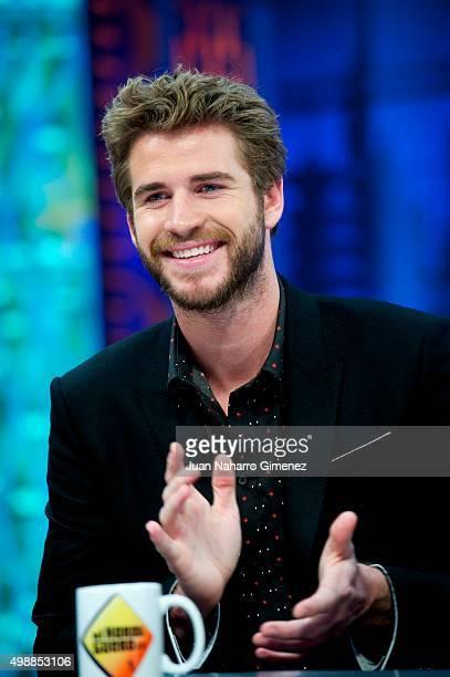 Liam Hemsworth attends 'El Hormiguero' Tv show at Vertice Studio on November 26 2015 in Madrid Spain