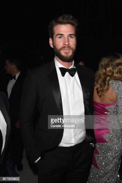 Liam Hemsworth attends Elton John AIDS Foundation 26th Annual Academy Awards Viewing Party at The City of West Hollywood Park on March 4 2018 in Los...