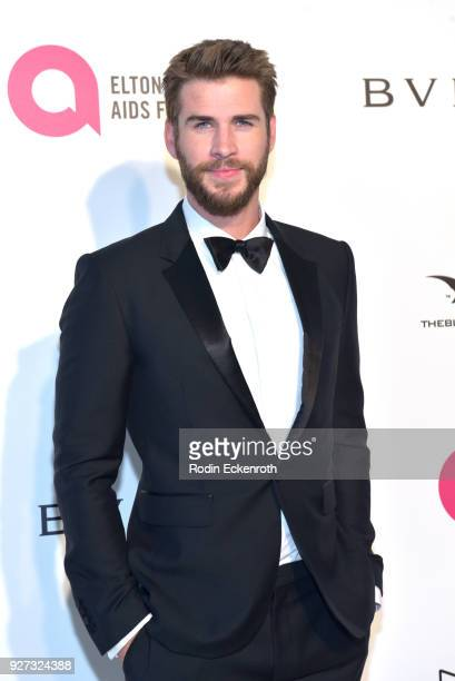 Liam Hemsworth attends the 26th annual Elton John AIDS Foundation's Academy Awards Viewing Party at The City of West Hollywood Park on March 4 2018...