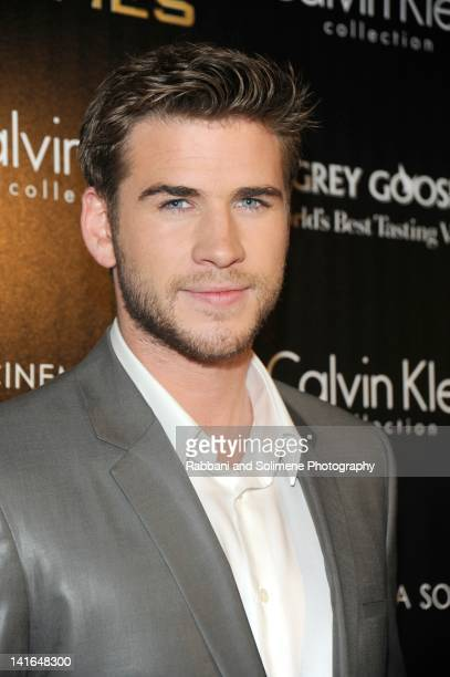 Liam Hemsworth attends the Cinema Society Calvin Klein Collection screening of The Hunger Games at SVA Theatre on March 20 2012 in New York City