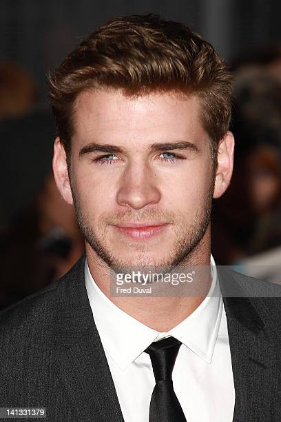 Liam Hemsworth attends the European premiere of The Hunger Games at O2 Arena on March 14 2012 in London England
