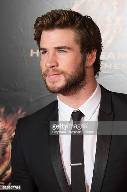 Liam Hemsworth attends 'The Hunger Games Catching Fire' Paris Premiere at Le Grand Rex in Paris