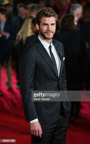 Liam Hemsworth attends The Hunger Games Mockingjay Part 2 UK Premiere at Odeon Leicester Square on November 5 2015 in London England