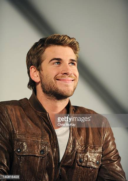 Liam Hemsworth attends The Hunger Games National Mall tour fan event at Lenox Square on March 6 2012 in Atlanta Georgia