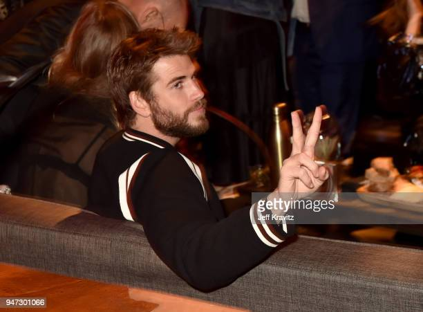 Liam Hemsworth attends the Los Angeles Season 2 premiere of the HBO Drama Series WESTWORLD at The Cinerama Dome on April 16 2018 in Los Angeles...