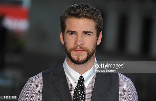 "Liam Hemsworth attends the World Premiere of ""Rush"" at Odeon Leicester Square on September 2, 2013 in London, England."