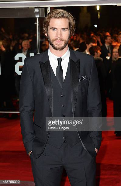 Liam Hemsworth attends the World Premiere of The Hunger Games Mockingjay Part 1 at Odeon Leicester Square on November 10 2014 in London England