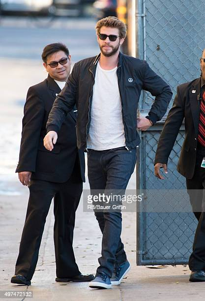 Liam Hemsworth is seen at 'Jimmy Kimmel Live' on November 16 2015 in Los Angeles California