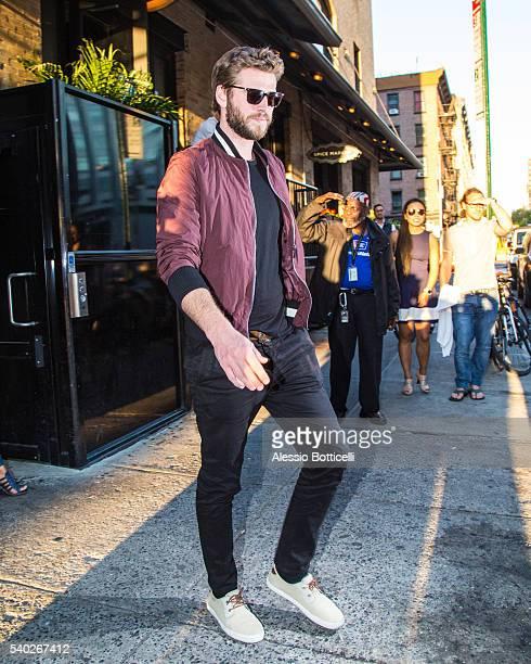 Liam Hemsworth is seen leaving SoHo House on June 14 2016 in New York New York