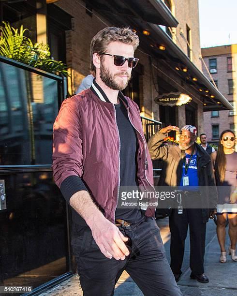 Liam Hemsworth is seen leaving SoHo House on June 14, 2016 in New York, New York.