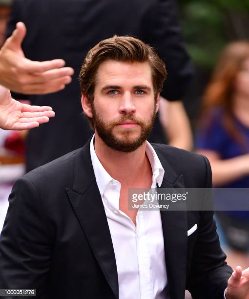 Liam Hemsworth seen on location for 'IsnÕt It Romantic' in Midtown on July 15 2018 in New York City