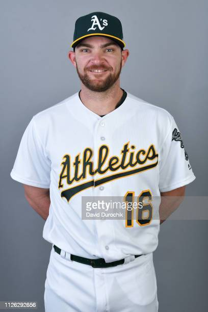 Liam Hendriks of the Oakland Athletics poses during Photo Day on Tuesday February 19 2019 at Hohokam Stadium in Phoenix Arizona