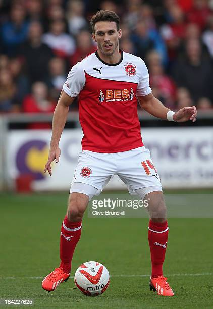 Liam Hogan of Fleetwood Town in action during the Sky Bet League Two match between Fleetwood Town and Chesterfield at Highbury Stadium on October 12...