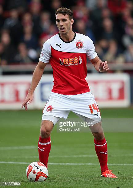 Liam Hogan of Fleetwood Town in action during the Sky Bet League Two match between Fleetwood Town and Chesterfield at Highbury Stadium on October 12,...