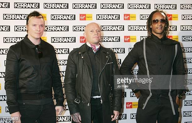 Liam Howlett Keith Flint Maxim of Prodigy arrive at the Kerrang Awards 2005 the annual music magazine's prestigious awards at XXXX on August 24 2006...