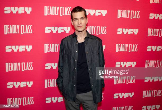 Liam James attends the premiere week screening of SYFY's Deadly Class hosted by Kevin Smith at The Wilshire Ebell Theatre on January 14 2019 in Los...