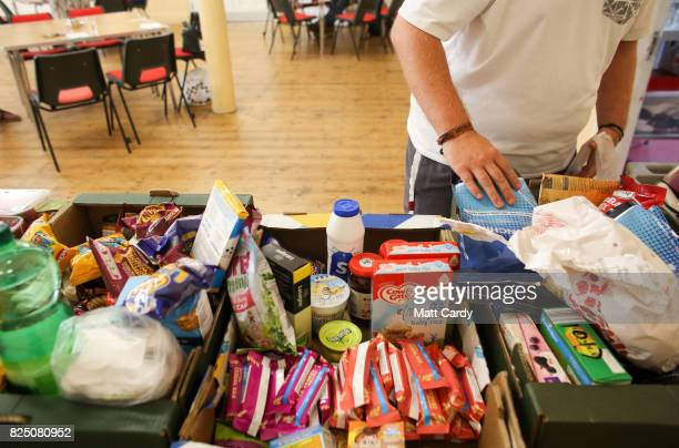 Liam Jervis who has been living in his car as he cannot afford local rents from the wages he earns from his low paid job uses the foodbank run by the...