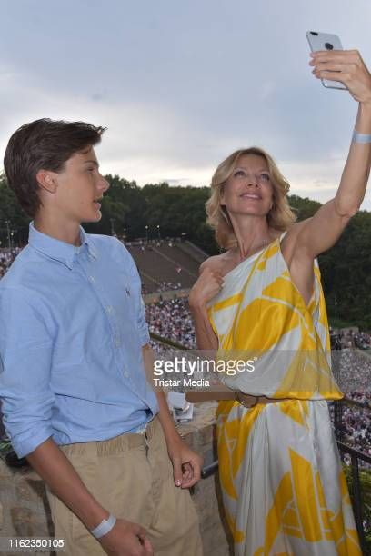 Liam KarvenVeres and his mother Ursula Karven at the WestEastern Divan Orchestra with Daniel Barenboim at Waldbuehne on August 17 2019 in Berlin...