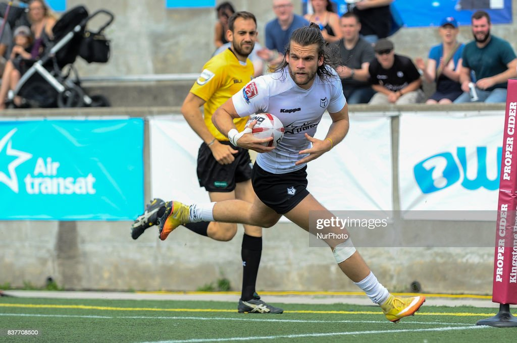 Liam Kay of Toronto Wolfpack in action during Super 8s Round 4 game between Toronto Wolfpack (Canada) vs Newcastle Thunder (United Kingdom) at Allan A. Lamport Stadium in Toronto, Canada. August 19, 2017.