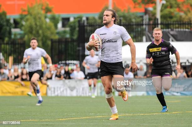 Liam Kay of Toronto Wolfpack in action during Super 8s Round 4 game between Toronto Wolfpack vs Newcastle Thunder at Allan A Lamport Stadium in...
