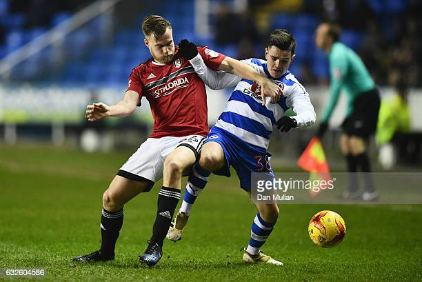 Liam Kelly of Reading and Tomas Kalas of Fulham battle for the ball during the Sky Bet Championship match between Reading and Fulham at Madejski...