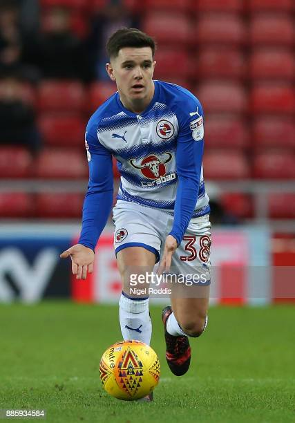 Liam Kelly of Reading during the Sky Bet Championship match between Sunderland and Reading at Stadium of Light on December 2 2017 in Sunderland...