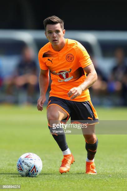 Liam Kelly of Reading FC in action during a preseason friendly match between AFC Wimbeldon and Reading at The Cherry Red Records Stadium on July 7...