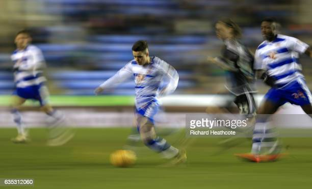 Liam Kelly of Reading in action during the Sky Bet Championship match between Reading and Brentford at Madejski Stadium on February 14 2017 in...