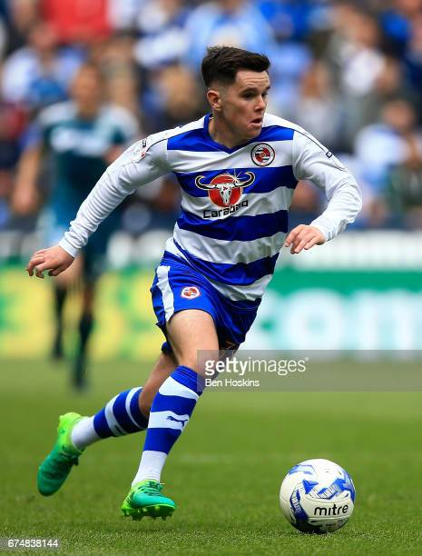 Liam Kelly of Reading in action during the Sky Bet Championship match between Reading and Wigan Athletic at Madejski Stadium on April 29 2017 in...
