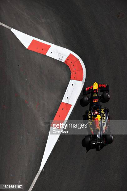 Liam Lawson of New Zealand and Hitech Grand Prix drives on track during qualifying ahead of Round 3:Baku of the Formula 2 Championship at Baku City...
