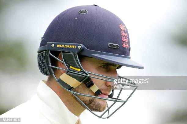 Liam Livingstone of England leaves the field after being caught by Jake Doran of Australia during the Two Day tour match between the Cricket...