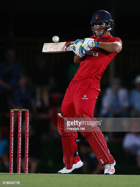 Liam Livingstone of Lancashire Lightning bats during the Emirates Airline T20 Cup Final match between Lancashire Lightning and Yorkshire Vikings at...