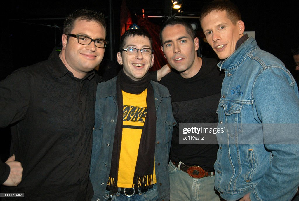 Liam Lynch and Bare Naked Ladies during Comedy Central's First Annual 'Commies' Awards - Backstage at Sony Studios in Culver City, California, United States.