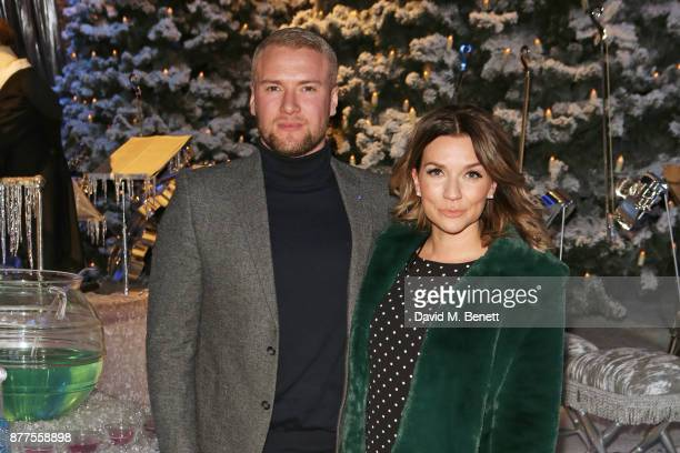 Liam Macaulay and Candice Brown attend the VIP launch of 'Hogwarts In The Snow' at Warner Bros Studio Tour London The Making Of Harry Potter on...