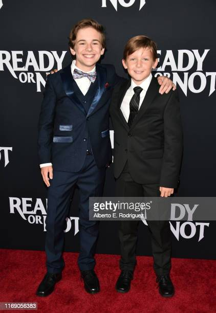 """Liam MacDonald and Ethan Tavares attend the LA Screening Of Fox Searchlight's """"Ready Or Not"""" at ArcLight Culver City on August 19, 2019 in Culver..."""